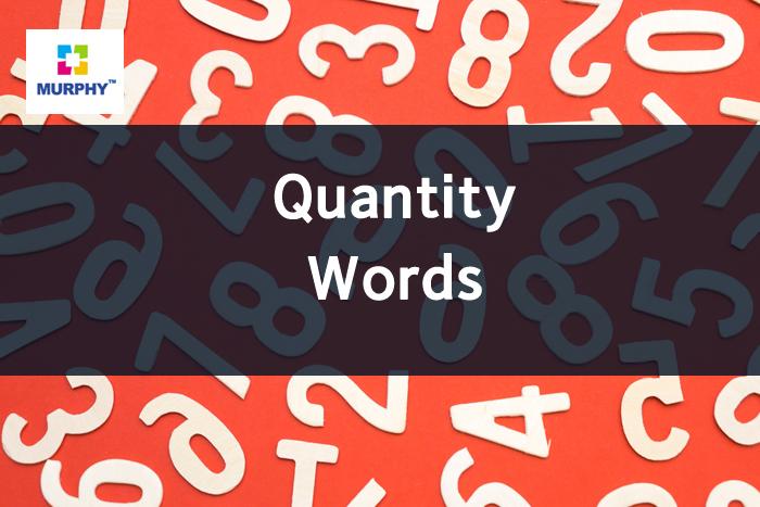 아이엘츠에 도움이 될 수 있는 문법: 수량을 나타내는 단어들