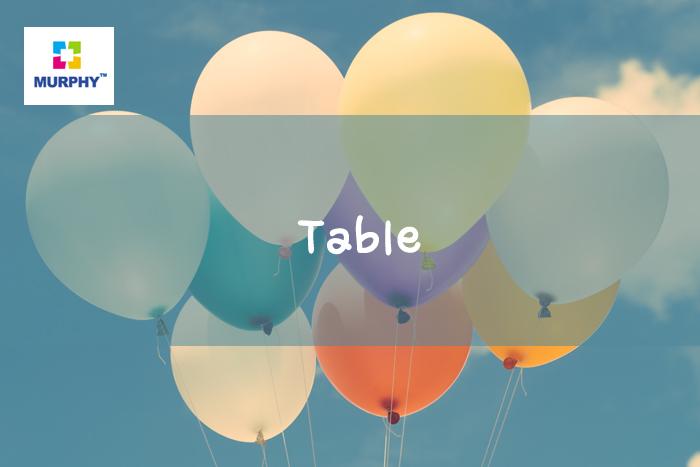 아이엘츠 시험 라이팅 task1 표(Table)