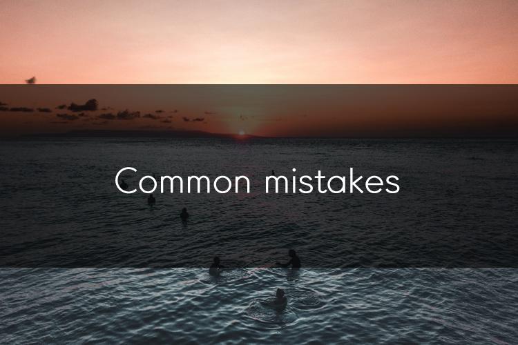 아이엘츠에 도움이 되는 팁: Common Mistakes