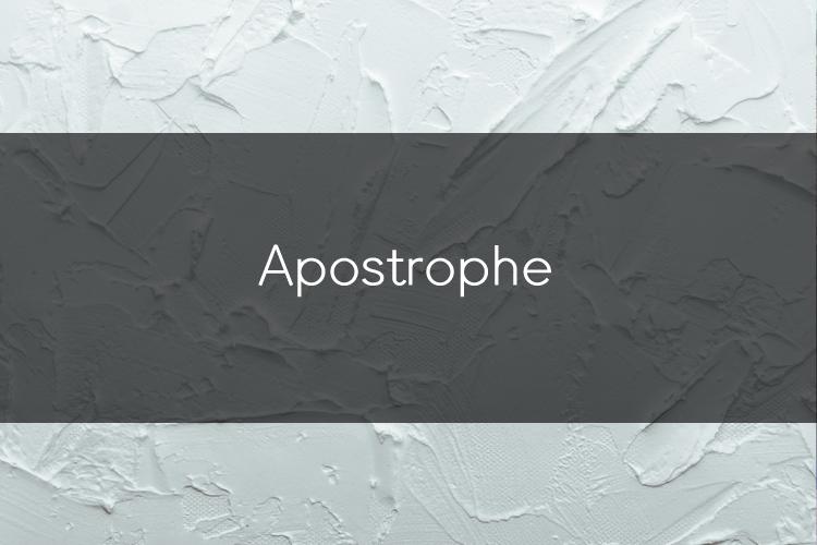 아이엘츠에 도움이 되는 문법: Apostrophe