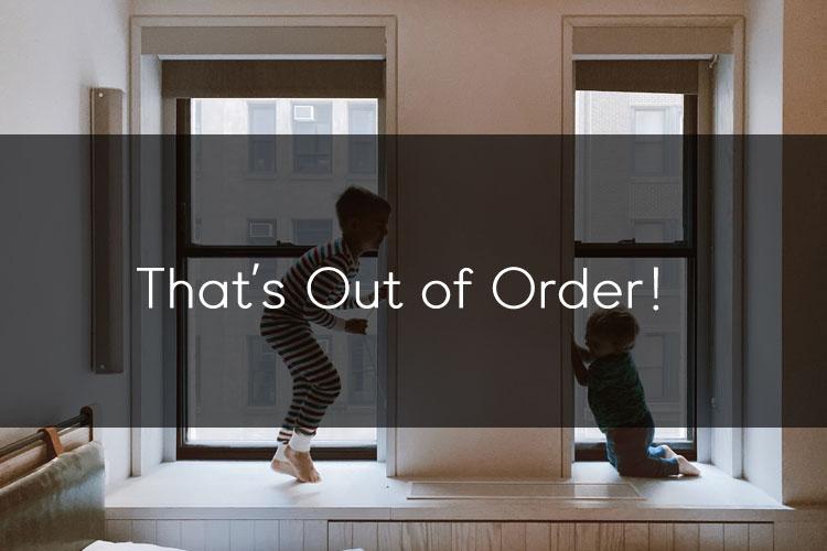 머피의 오늘의 한마디! That's out of order!